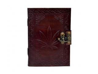 Celtic Leaf Handmade Leather Journal Diary Large Handcrafted Organizer Notebook